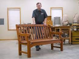 complete english garden bench build
