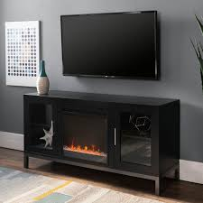 black 52 inch fireplace tv stand