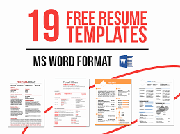 Resume Template Microsoft Word Free Download Wfacca