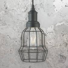 matt black cage pendant light