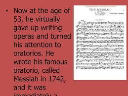 「1742 – George Frideric Handel's oratorio Messiah」の画像検索結果