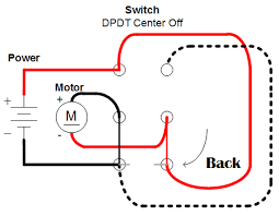 easiest way to reverse electric motor directions robot room connections in a dpdt switch resulting in a motor going backward