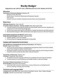 Economics Major Resume