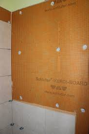 this particular shower uses kerdi board for the wall substrate as well but you can do this with a regular kerdi shower or any other substrate if you can