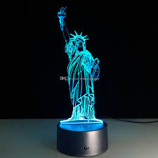 2018 2016 statue of liberty 3d optical illusion lamp night light dc 5v usb charging aa battery whole drop from wiserepeater 15 08 dhgate com