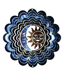 love this blue copper sun moon windspinner