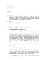 Detective And Criminal Investigator Cover Letter 100 Images