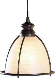 in brushed bronze and glass cage pendant light