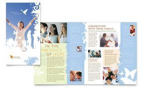 Church Welcome Brochure Samples Christian Church Brochure Template Design