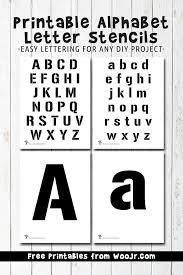 Lettering Stencils To Print Printable Alphabet Letter Stencils Woo Jr Kids Activities