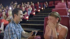 w bursts into tears after man proposes during fifty shades of wedding proposal