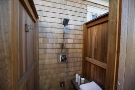 outdoor shower features built seat adjule handheld showerhead