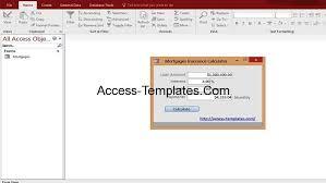 Mortgage Calculator Template Microsoft Access Mortgage Payoff Payment Rates Calculator Templates