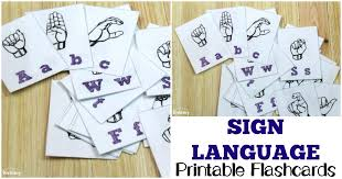 Baby Sign Language Chart Template Simple Free Printable Flashcards Sign Language Alphabet