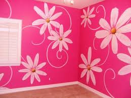 Girls Rooms Painting Ideas   This design was created for a little girl's  room.