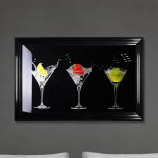 shh interiors cocktails print black made with glass and swarovski crystals 114 x 74