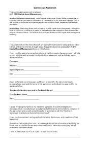 Sales Commissions Template 36 Free Commission Agreements Sales Real Estate Contractor