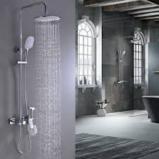 best rain shower set with tub spout faucet plastic wall mount shower head and handheld shower head