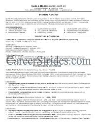 Business Systems Analyst Resume Template Resumeguide Inside Business