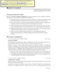 Administrative Assistant Resume Objective Sample Executive