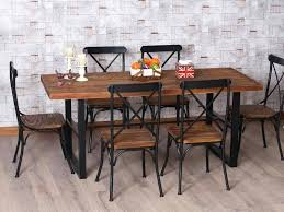 wrought iron and wood furniture. Wood And Iron Table Wrought Furniture Popular Dining Good Kitchen .
