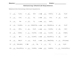 collection of free balancing chemical equations worksheet 3 answers ready to or print please do not use any help chemica
