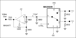 how much resistance is too much resistance for a video switch maxim example video switching circuit