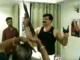 Viral Video Mla Drinks Dances With Guns In Hands To Bollywood