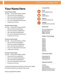 Resume Templates Microsoft Word 2013 87 Images Free Resume