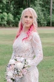 wedding hair makeup for pink hair bride non traditional wedding ideas