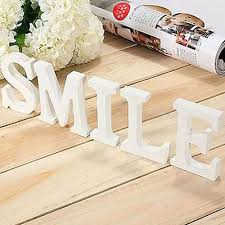 large wooden letter alphabet wall