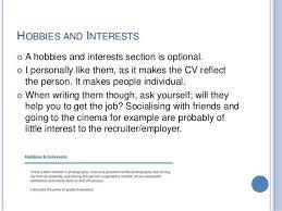 Cv English Hobbies And Interests Resume Pdf Download