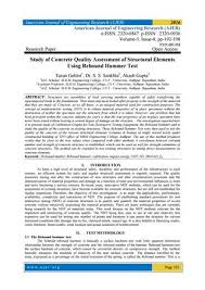 Study Of Concrete Quality Assessment Of Structural Elements