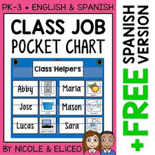 Classroom Helpers Pocket Chart Classroom Jobs Pocket Chart