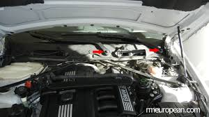 bmw e90 e91 e92 e93 valve cover gasket replacement diy n52n engine bmw e90 328xi removing the windshield wiper arms