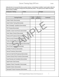 Restaurant Server Training Checklist Workplace Wizards