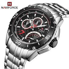 NAVIFORCE <b>Mens</b> Watches Stainless Steel Quartz Watches 30M ...