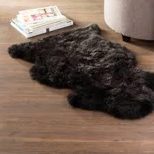black sheepskin rug. Save Black Sheepskin Rug 8