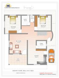 Duplex House Plan and Elevation   Sq  Ft    Kerala home    Duplex House Ground Floor Plan   Sq  Ft    Sq M