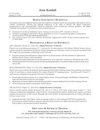 ... Electronic Engineering Technician Resume Sample Fresh Tech Resume  format ...