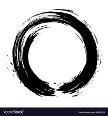Japanese Enso Zen Black Ink Logo Art Design