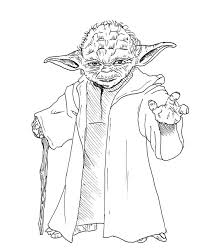 Small Picture Star wars yoda coloring pages download and print for free