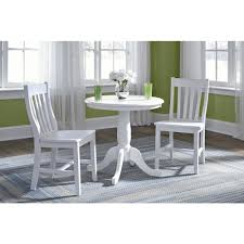 international concepts 30 in pure white round solid pedestal table