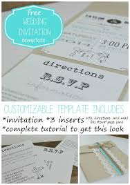 Free Invitation Design Templates Extraordinary Customizable Wedding Invitation Template With Inserts CrAfTy 48 ThE