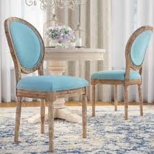 patel round back upholstered dining chair set of 2