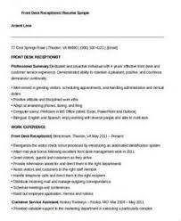 resume templates for hotel receptionist 2 hotel receptionist resume sample