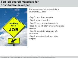 Cover Letter Sample Housekeeping Sample Resume For Housekeeping Job