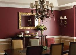 color is authoritative without being overbearing painting the wainscot in jackson tan with white dove accents further lightens the mood of the dining