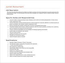 Accountant Job Description Accountant Job Description Template 100 Free Word PDF Format 2