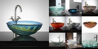glass vessel bathroom sinks